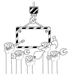 Construction architectural cartoon vector