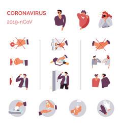 Coronavirus 2019ncov epidemic disease do and donts vector
