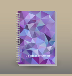 Cover of diary or notebook ultra violet traingular vector