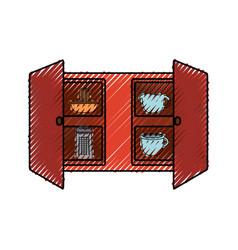 cupboard vector image