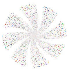 Digits fireworks swirl rotation vector
