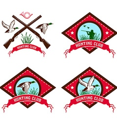 duck hunting club vector image