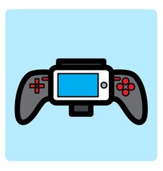flat color gamepad icon vector image