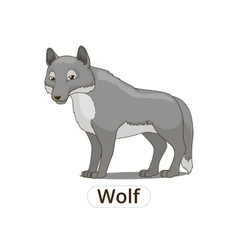 Forest animal wolf cartoon vector image