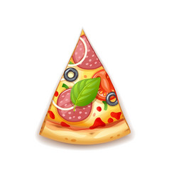 fresh pizza with tomato vector image