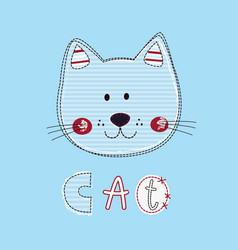 funny cat for kids design vector image