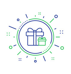 Gift boxes line icon present sign vector