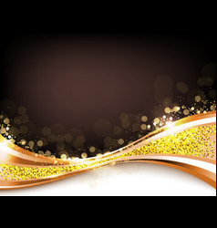 Gold abstract elegant background vector