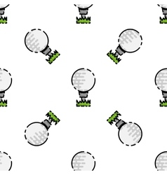 Golf flat pattern vector image