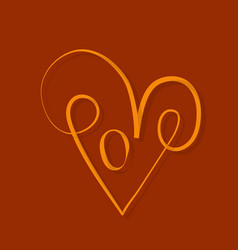 Happy valentines day i love you typography vector