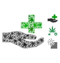 health care donation collage of marijuana vector image