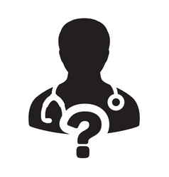 healthcare icon doctor male person profile avatar vector image