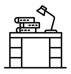 Homework table icon outline style vector