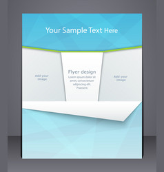 Layout business flyer magazine cover template vector