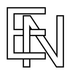 Logo sign en ne icon sign interlaced letters n e vector