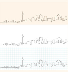 Macau hand drawn skyline vector