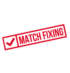 match fixing rubber stamp vector image