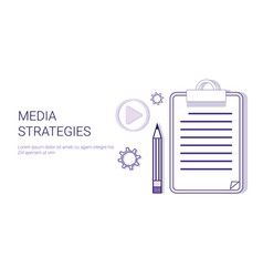media strategy concept content marketing business vector image