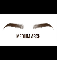 Medium arch brows shape web banner template vector