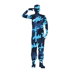 Military figure avatar camouflage isolated icon vector