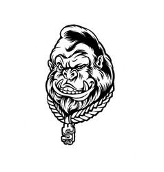 monkey kingkong silhouette clipart vector image