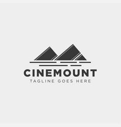 Mountain cinema film movie simple logo template vector