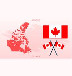 National map canada vector
