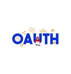 Oauth open authentication login password vector