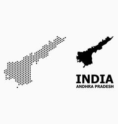 Pixelated mosaic map andhra pradesh state vector