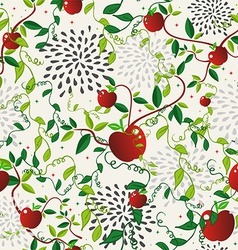Red apple food seamless pattern vector
