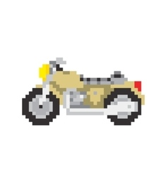 Road motorbike in pixel art style isolated vector image