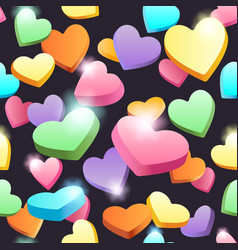seamless sweet hearts pattern vector image
