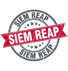 Siem Reap red round grunge vintage ribbon stamp vector