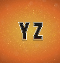 Sport Style Font from Y to Z vector