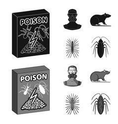 Staff packing with poison and pests black vector