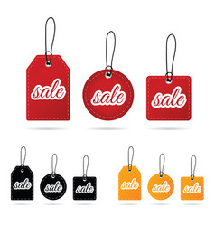 tag sale in various poses color design vector image