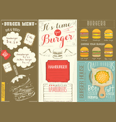 template menu for burger house vector image