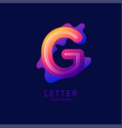 The letter g latin alphabet display vector
