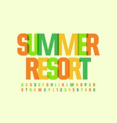 vacation logo summer resort holiday font vector image
