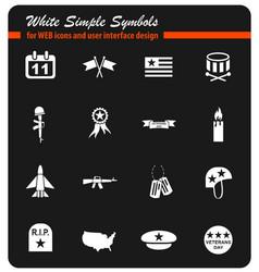 Veterans day icon set vector