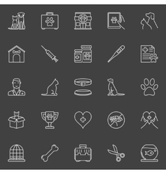 Veterinary clinic icons vector