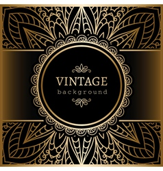 Vintage gold lacy background vector