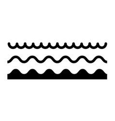 wave icon line sea ocean logo water simple vector image
