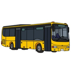 Yellow city bus vector