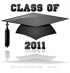 class of 2011 graduation vector image vector image