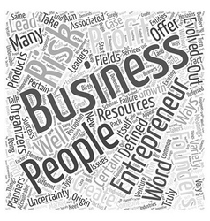 entrepreneurs Word Cloud Concept vector image vector image
