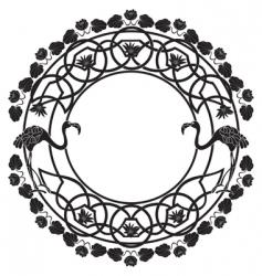 flamingo black vector image vector image