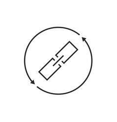 link exchange thin line icon vector image