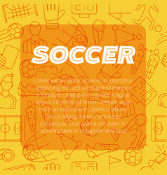 modern design background soccer sign icon vector image vector image