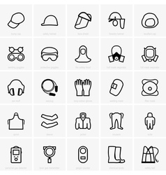 PPE icons vector image vector image